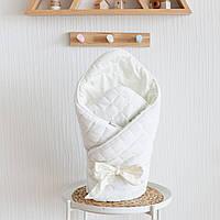 """Велюровый конверт-одеяло """"Tessera"""", молочный"""