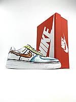 Жіночі кросівки Nike Air Force 1 Low Comics Verde White (Кросівки Найк Аір Форс різнокольорові), фото 1