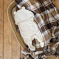 Универсальный махровый спальник, молочный, 0-6 мес.