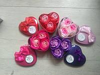 Подарочный набор 3 мыльные розы в шкатулочке, фото 1