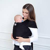Слинг шарф черного цвета (оникс) Love & Carry®