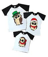 """Набор футболок для всей семьи """"совы"""" (сублимация) Family look"""