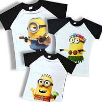 """Яркие футболки в стиле family look """"миньоны на пляже"""" Family look"""