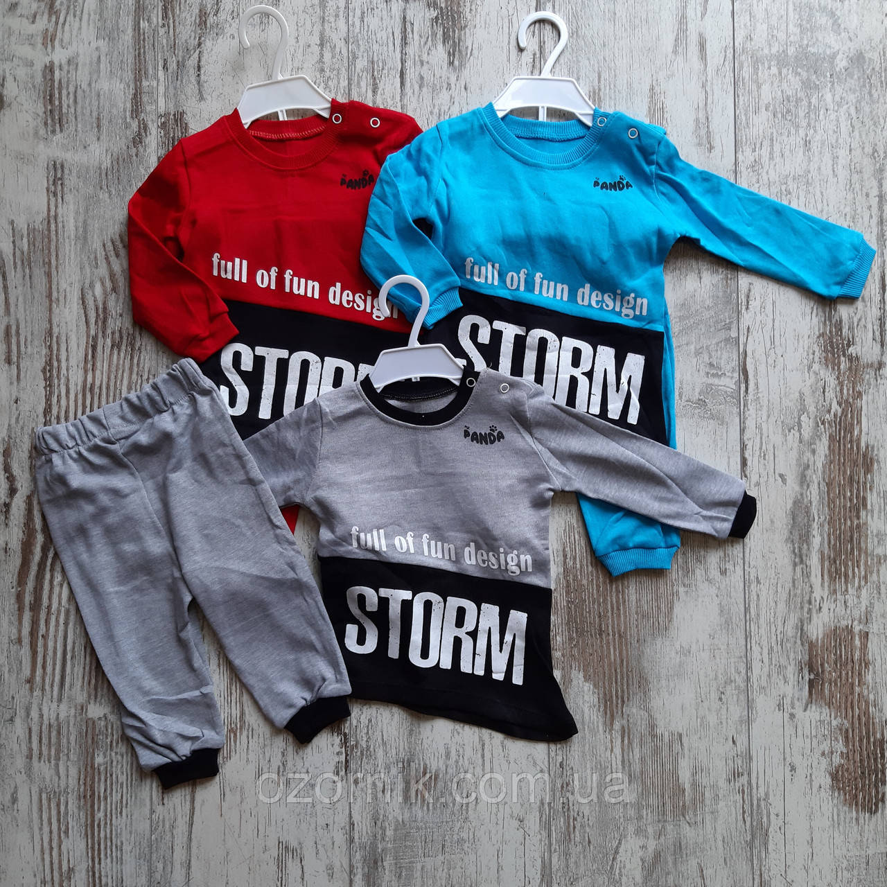 """Оптом Костюм """"Storm"""" Новорожденные Мальчики 6-18 мес Турция"""