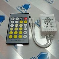 Контроллер W + WW DC12V-24V 6А для светодиодной ленты с ИК пультом 24к, фото 1