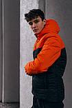 "Демісезонна Куртка ""Temp"" бренду Intruder (помаранчева - чорна), фото 2"