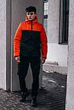 "Демісезонна Куртка ""Temp"" бренду Intruder (помаранчева - чорна), фото 4"