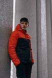"Демісезонна Куртка ""Temp"" бренду Intruder (помаранчева - чорна), фото 8"
