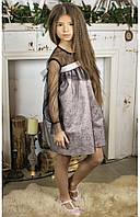 """Нарядное детское платье для девочек """"морозные снежинки"""" 110 PaMaranchi"""