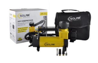 Автомобильный компрессор SOLAR AR 207 12v\14А\32 л\170Вт\ шланг 1м