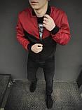 Бомбер чорно-червоний чоловічий весняний, фото 2