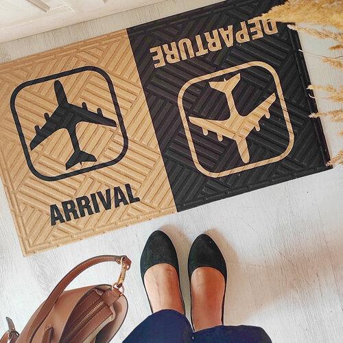 Килимок під двері з принтом Arrival Departure