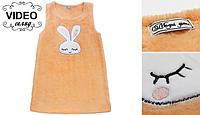 Теплый сарафан для девочек мамина зайка 86 Модные детки