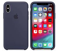 Чехол (Silicone Case) для iPhone X / iPhone XS Dark Blue