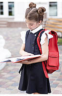 Школьный детский сарафан на вискозной подкладке (синий) 110 PaMaranchi