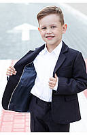 Школьный детский пиджак для мальчика (синий) 110 PaMaranchi