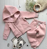 Детский костюм интересного кроя косуха (розовый) 74-80 см Mimi Book