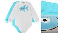 Боди с длинным рукавом shark 74 Модные детки