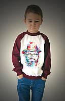 Детский свитшот с рисунком на груди dzidzio 86 Family look