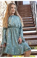 """Детское платье рубашка с красивым рисунком """"пташки"""" 110 PaMaranchi"""