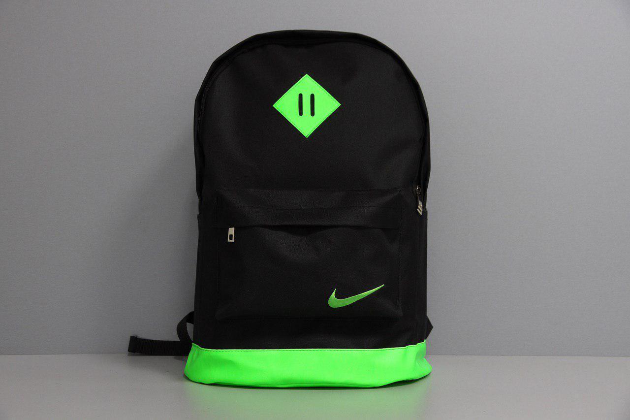 Рюкзак міський чоловічий, жіночий, для ноутбука Nike (Найк) чорний-зелений