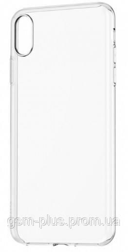 Чехол силиконовый для iPhone XS Max (прозрачный)