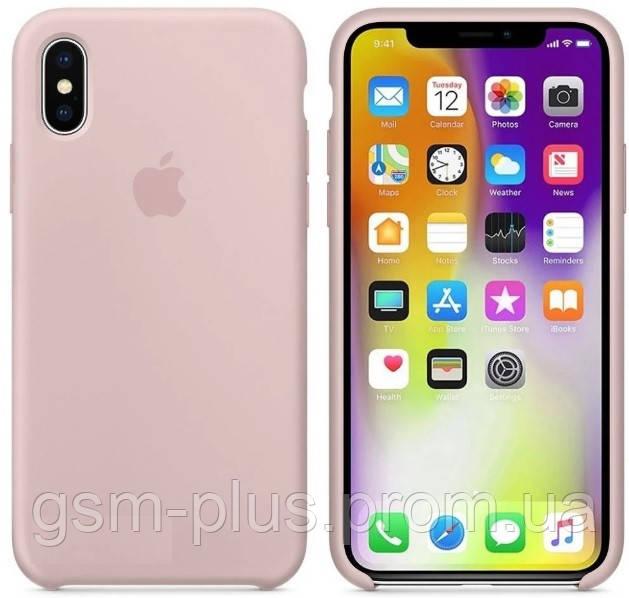 Чехол (Silicone Case) для iPhone X / iPhone XS Pink Sand