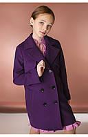 Детское демисезонное пальто с кокеткой (фиолетовый) 110 PaMaranchi