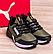 Мужские текстильные кроссовки в стиле Puma Retaliate Green GORE-Tex утепленные (реплика) цвет Хаки, фото 3