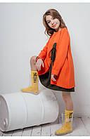 Детское платье с двухцветной юбкой (оранжевый) 110 PaMaranchi