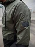"""Чоловіча спортивна куртка """"Anti-wind"""" хакі - чорна, фото 3"""