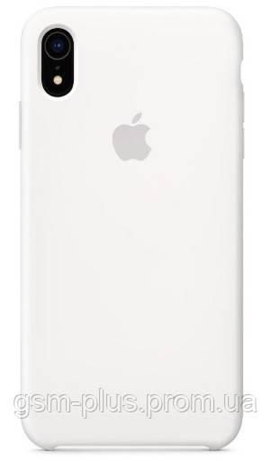 Чехол (Silicone Case) для iPhone XR White
