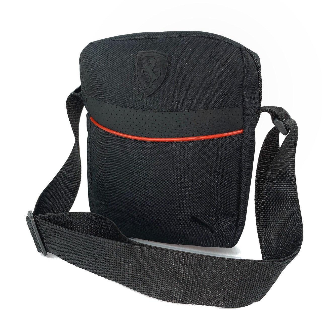 Мужская барсетка Puma Ferrari черная (Пума Ферари) сумка через плечо