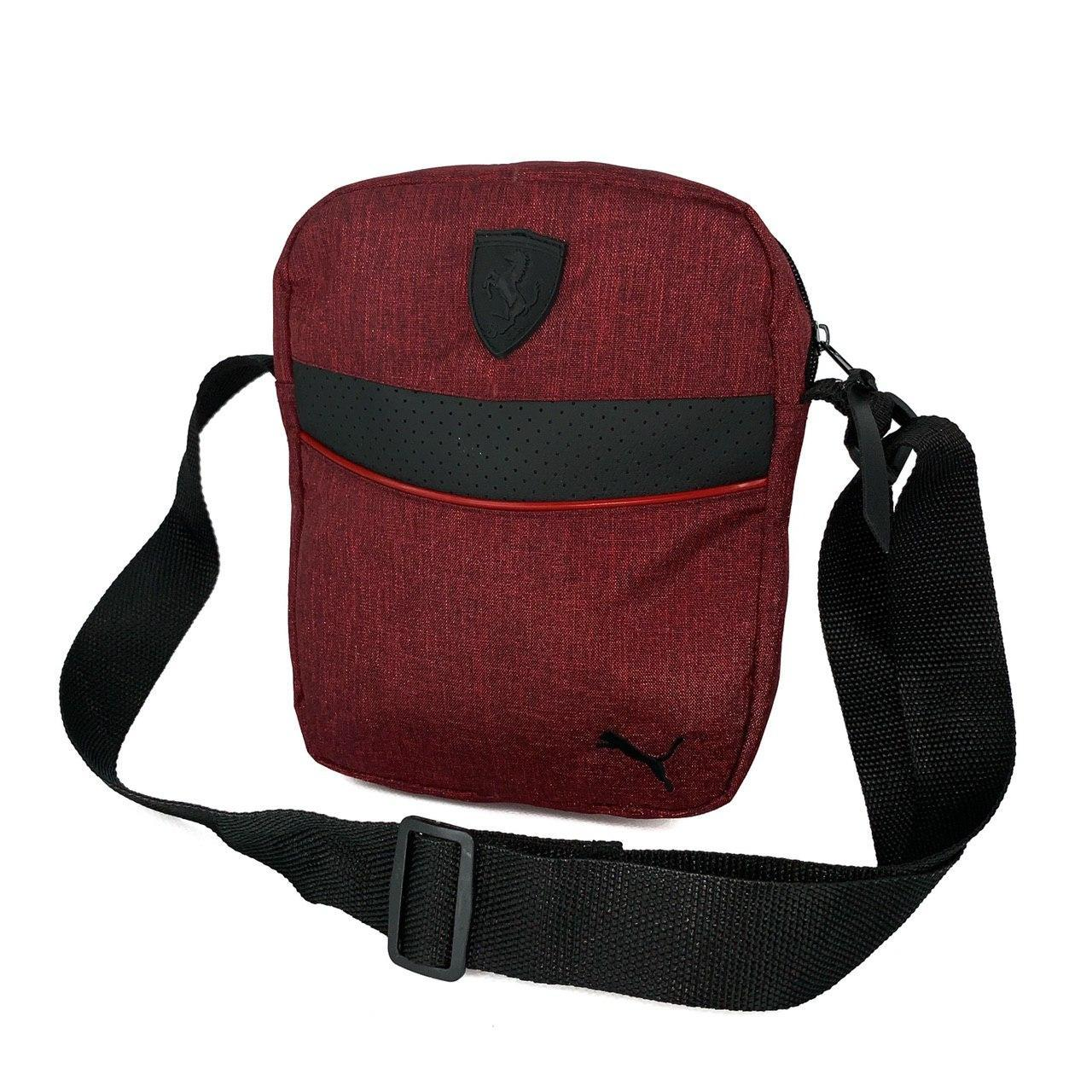 Мужская барсетка Puma Ferrari красная (Пума Ферари) сумка через плечо