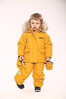 """Зимняя куртка + полукомбинезон для манюни """"альпинист"""" (горчичный) 86-92 см Kid's Fantasy"""