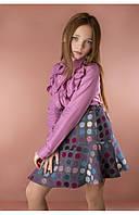 Детская рубашка с воланами (розовый) 110 PaMaranchi