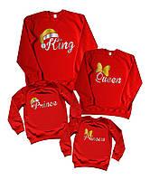 "Family look новогодних свитшотов ""king queen prince princess в колпаках"" Family look"