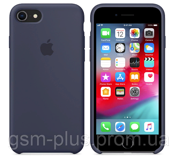 Чехол (Silicone Case) для iPhone 7 / iPhone 8 Blue