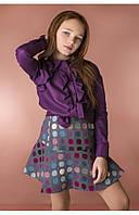 Детская рубашка с воланами (фиолетовый) 110 PaMaranchi