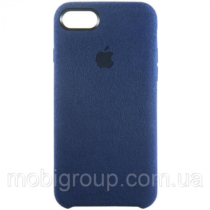 Защитный чехол Alcantara Cover для iPhone 7/8, темно-синий