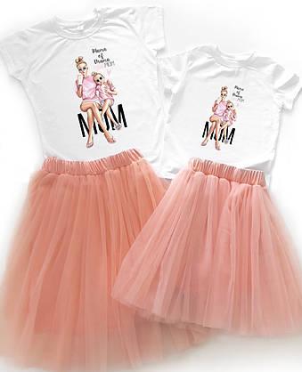 """Праздничный набор family look для мамы и дочки """"mom"""" Family look"""
