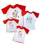 """4 новогодних футболки family look """"полярные мишки на льдинах"""" Family look"""