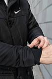 Парка Nike черная зимняя + штаны теплые найк + Барсетка и перчатки в Подарок. Комплект мужской, фото 3