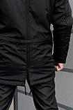 Парка Nike черная зимняя + штаны теплые найк + Барсетка и перчатки в Подарок. Комплект мужской, фото 4