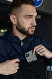 Спортивный костюм Nike мужской Найк синий черный + Барсетка в Подарок, фото 4