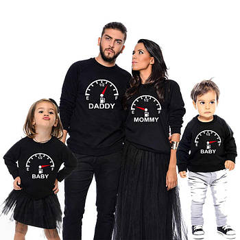 "Семейные наряды свитшоты family look ""спидометр"" Family look"