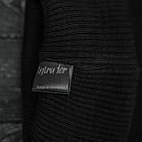 Мужская | Женская шапка Intruder черная, зимняя Bunny logo, фото 3