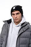Мужская | Женская шапка Intruder черная, зимняя Bunny logo, фото 6