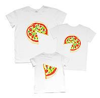 "Футболки с рисунками семейные набором family look ""пицца"" Family look"