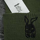 Чоловіча   Жіноча шапка Intruder хакі, зимова bunny logo зелена, фото 2